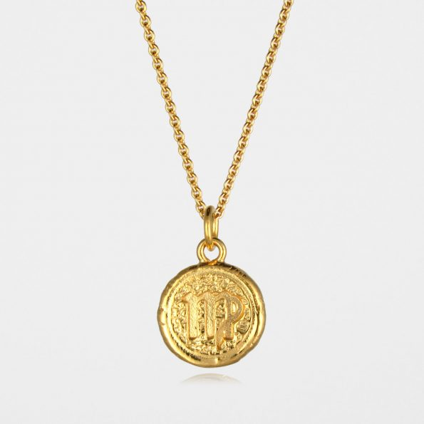 Virgo Star Sign Necklace Gold Vermeil