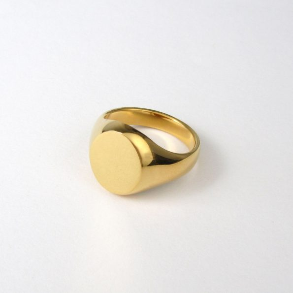 Oval Signet Ring Gold Vermeil