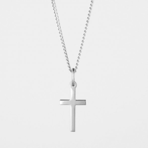 Small Cross Necklace Silver