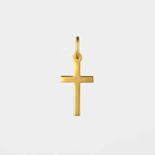 Small Cross Pendant Gold Vermeil