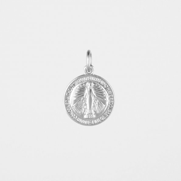 Round Miraculous Medal Silver