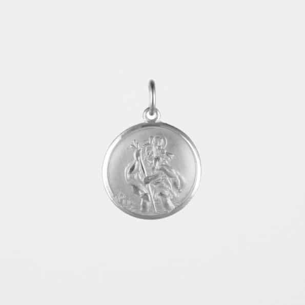 Large St Christopher Pendant Silver