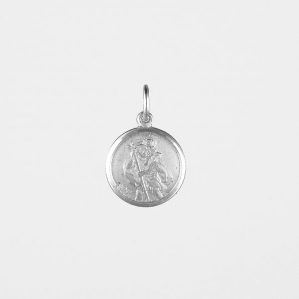 Small St Christopher Pendant Silver