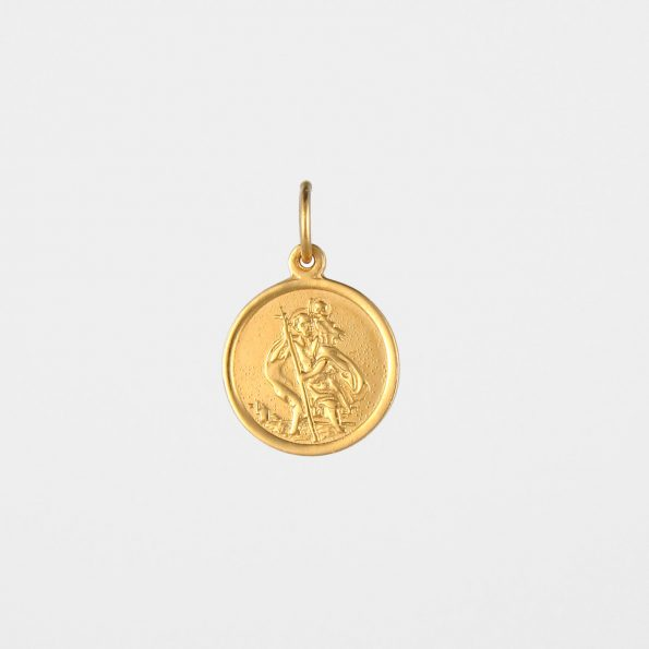 Small St Christopher Pendant Gold Vermeil