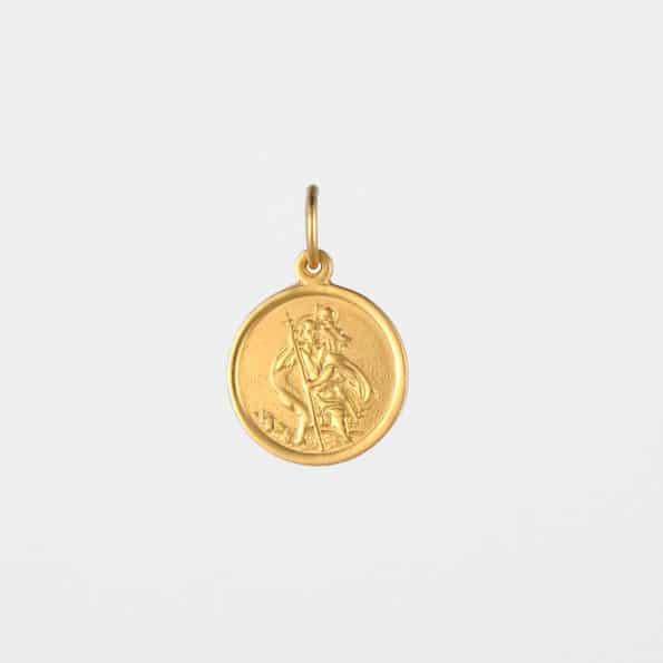 Small St Christopher Pendant Gold Vermeil