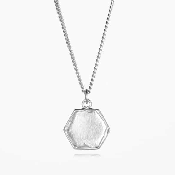 Hexagon Necklace Silver