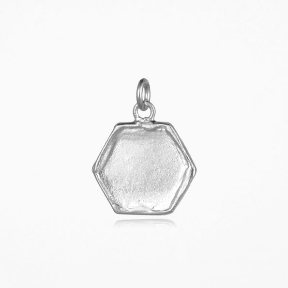 Hexagon Pendant Silver