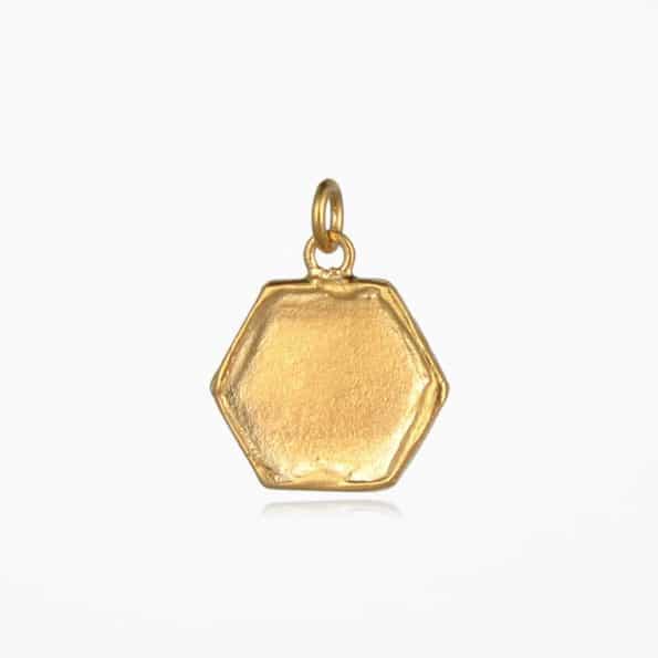 Hexagon Pendant Gold Vermeil