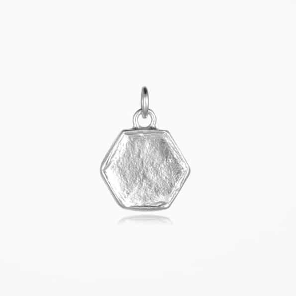 Small Hexagon Pendant Silver