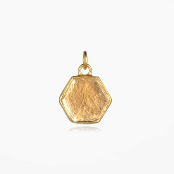 Small Hexagon Pendant Gold Vermeil
