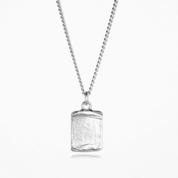 Scroll Necklace Silver