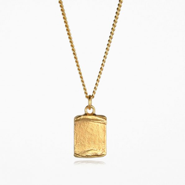 Scroll Necklace Gold Vermeil