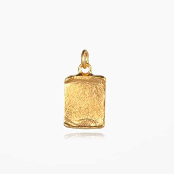 Scroll Pendant Gold Vermeil