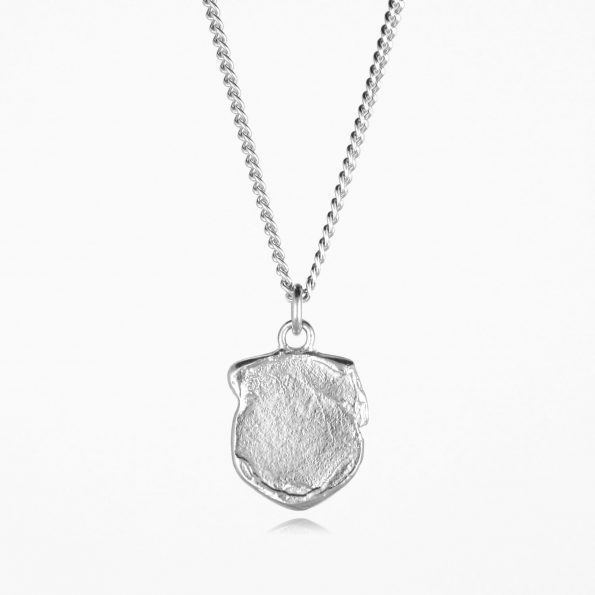 Shield Necklace Silver