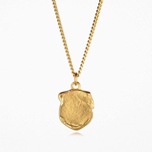 Shield Necklace Gold Vermeil