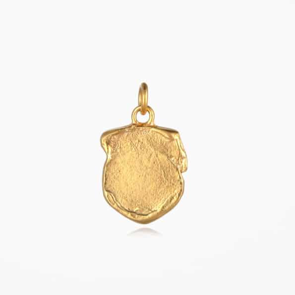 Shield Pendant Gold Vermeil
