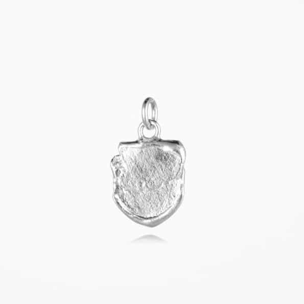Small Shield Pendant Silver
