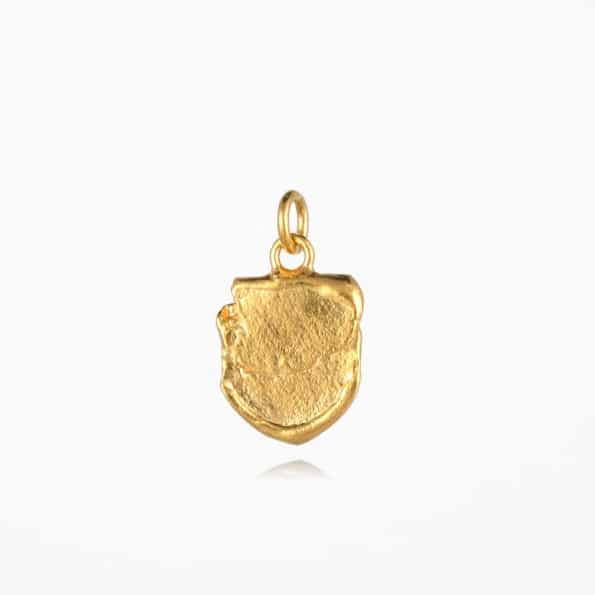 Small Shield Pendant Gold Vermeil