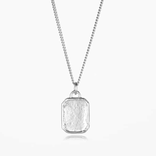 Tag Necklace Silver