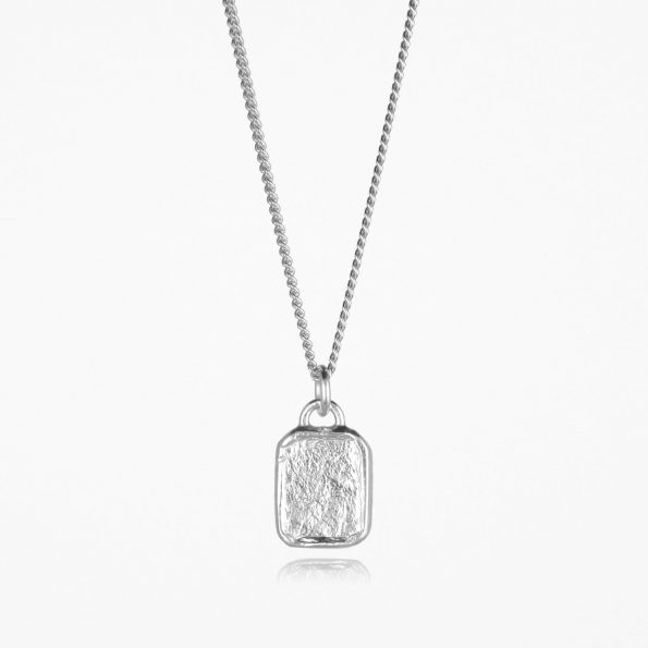Small Tag Necklace Silver