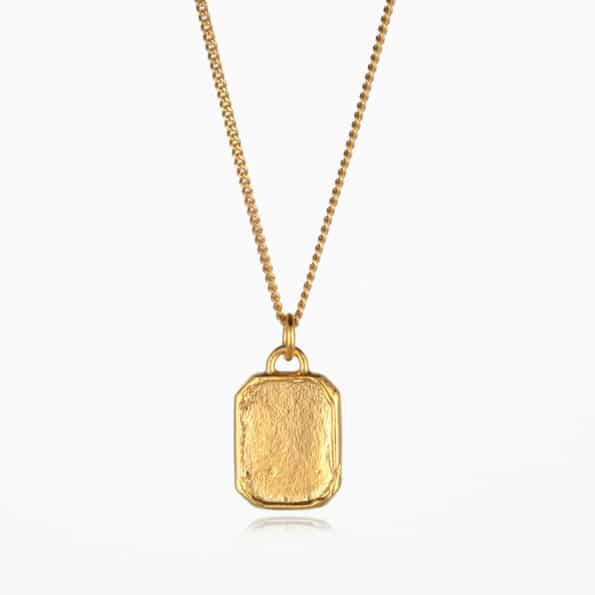 Tag Necklace Gold Vermeil