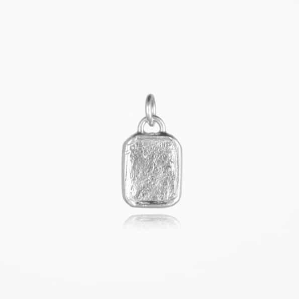 Small Tag Pendant Silver