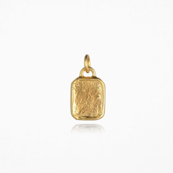 Small Tag Pendant Gold Vermeil