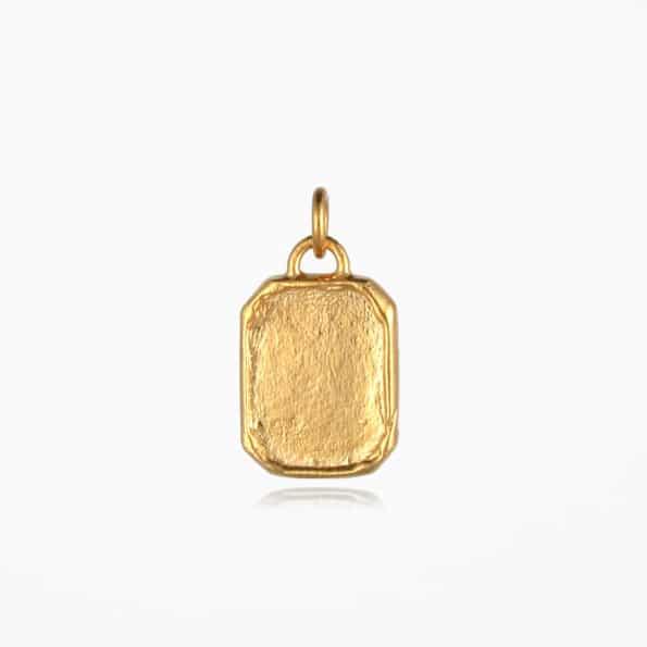 Tag Pendant Gold Vermeil