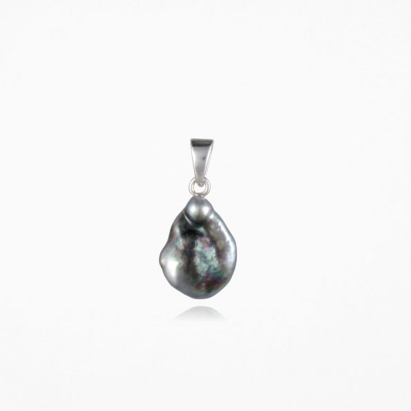 Black Pearl Pendant Silver #2